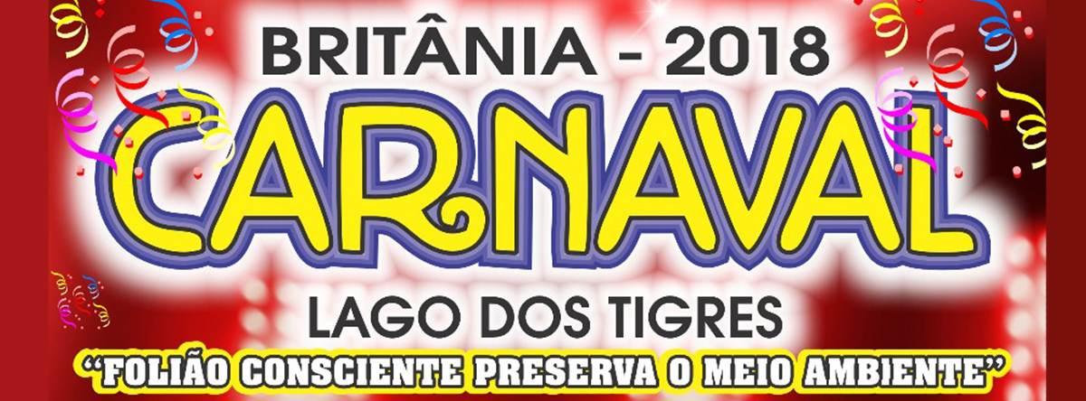Carnaval Britânia 2018   Foto: Divulgação