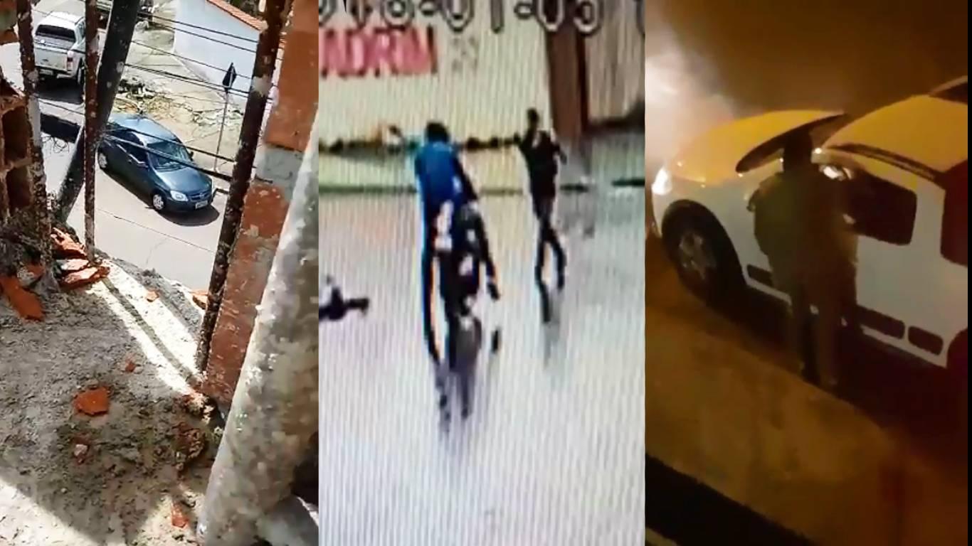 De furtos a assaltos, imagens gravadas na última semana flagram a violência no Jardim América   Fotos: Reprodução