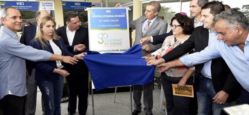Lançamento da pedra fundamental doHospital Estadual do Idoso Dr. Nabyh Salum   Foto: Laílson Damásio