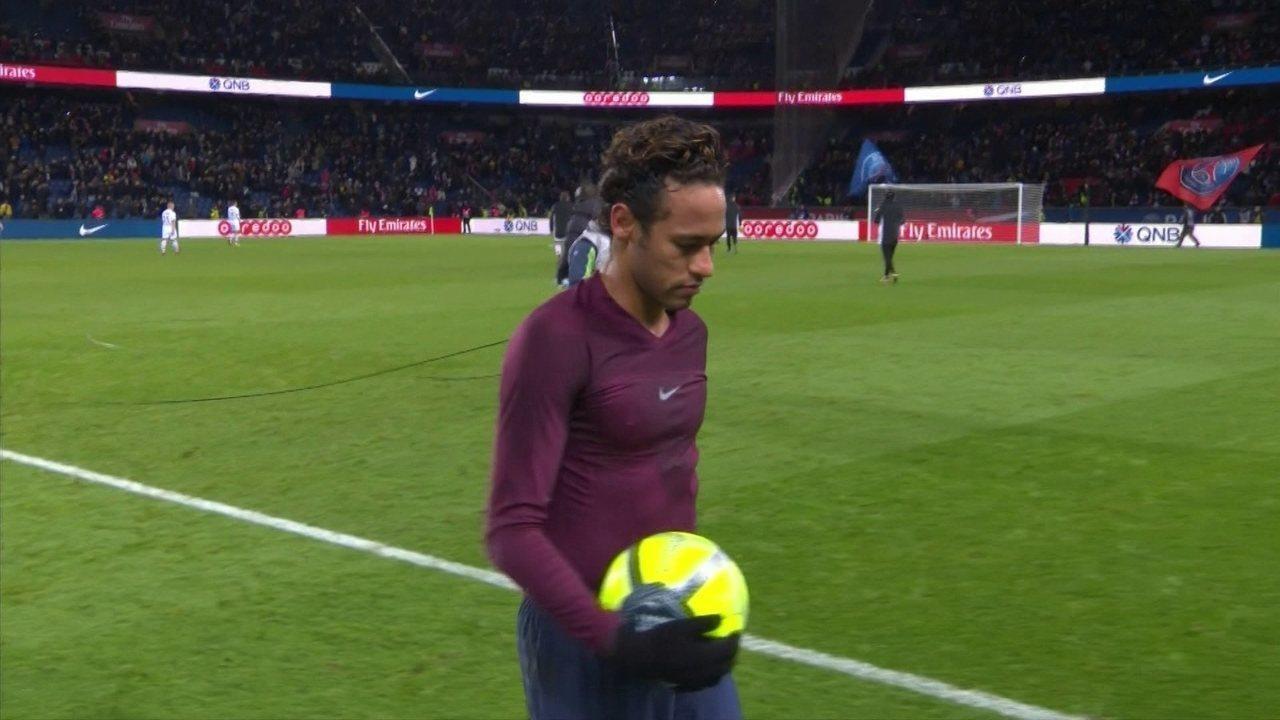 Neymar saiu vaiado navitória de 8 a 0 do PSG sobre o Dijon   Foto: Reprodução