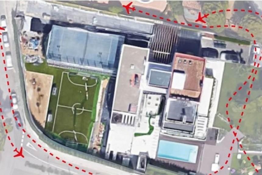 Nenhum avião pode voar por cima da casa de Messi em Barcelona   Foto: Reprodução/ Olé