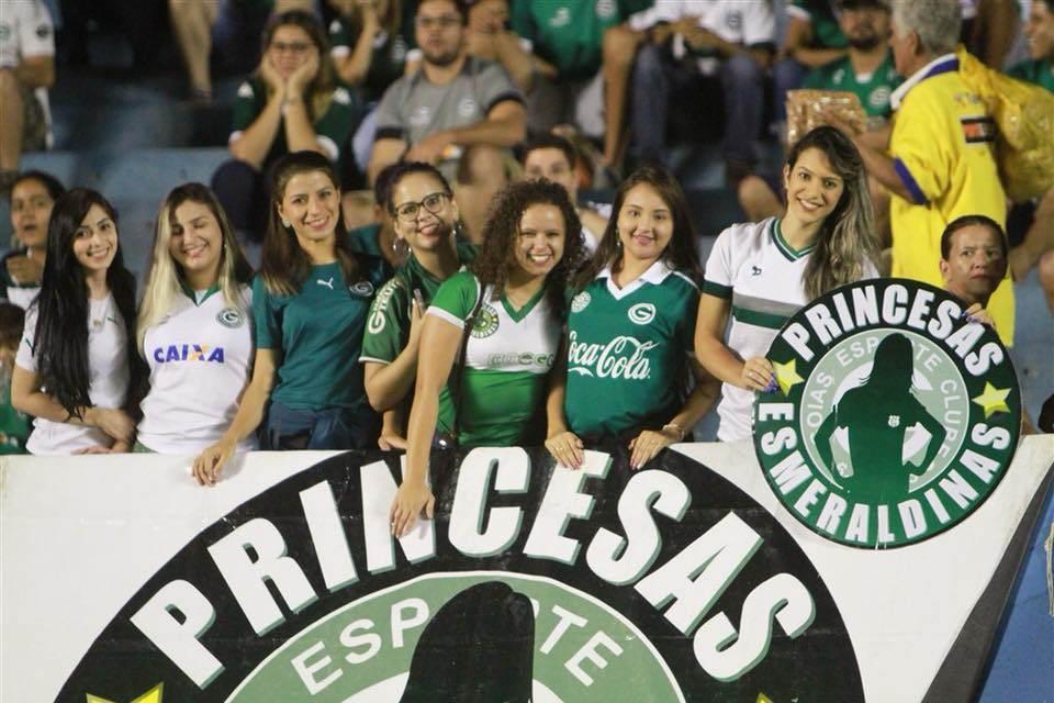 Em solidariedade a musa, mulheres não pagarão para ver Goiás e Coritiba | Foto: Reprodução/ Facebook GEC