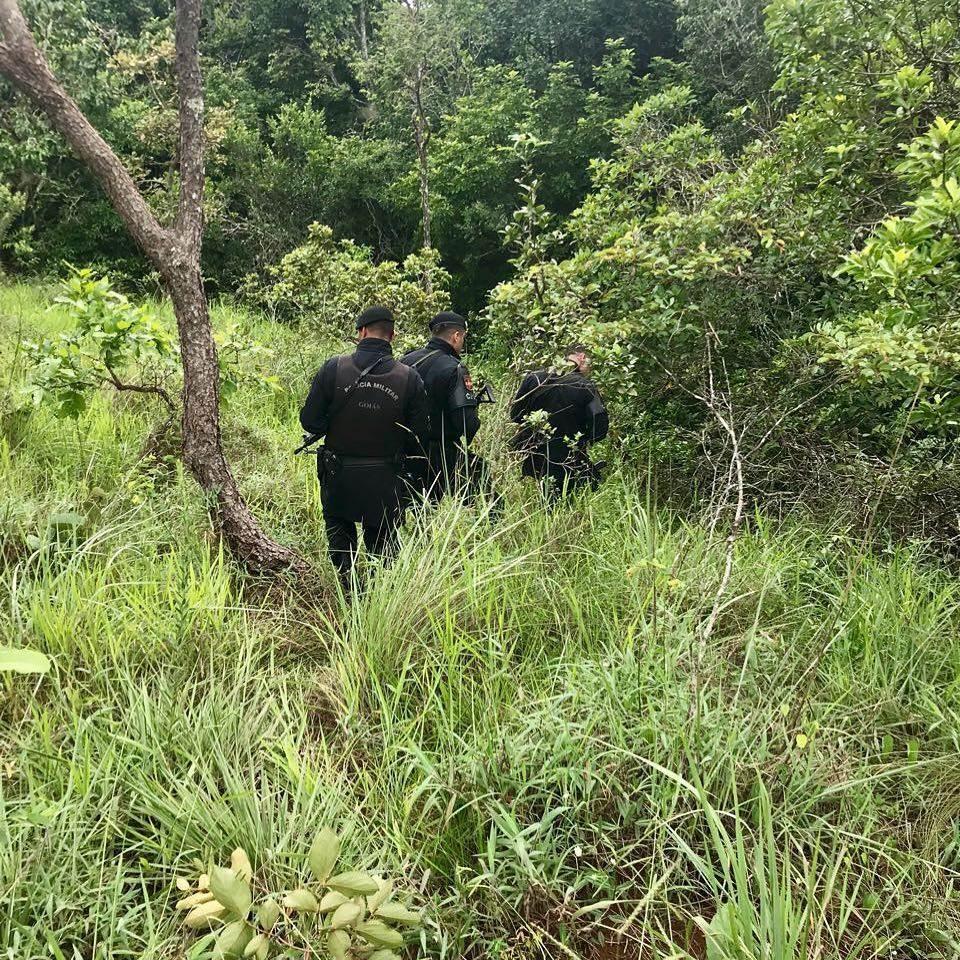Criminosos fugiram para a mata. PM, com apoio de um helicóptero, faz buscas na região do Rio Caldas   Foto: ilustração