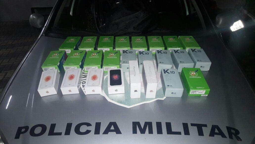 Homem é preso após roubar 13 celulares em shopping em Goiânia   Foto: Divulgação/ PM