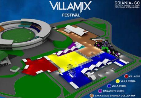 Mapa do Villa Mix Goiânia 2018 | Foto: Divulgação