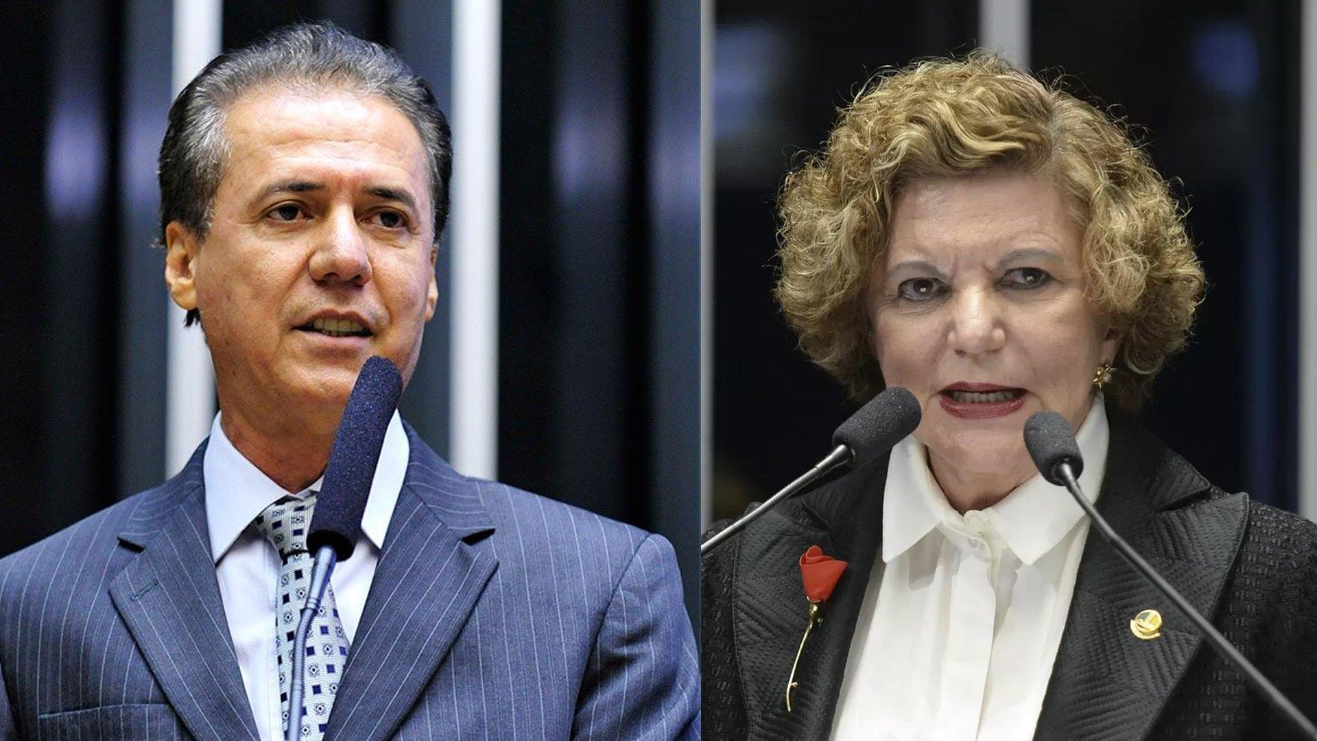 Pedro Chaves e Lúcia Vânia são pré-candidatos ao Senado   Foto: Reprodução