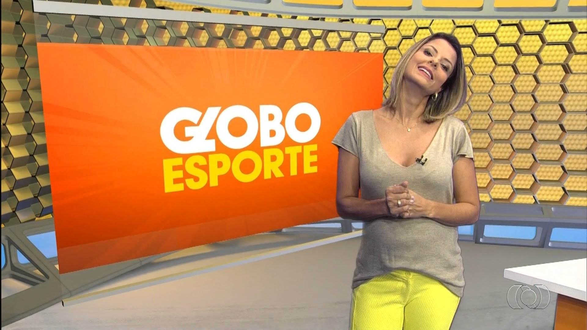 Contratada pelo Goiás, Thaís Freitas está de saída da TV Anhanguera   Foto: Reprodução/ TV Anhanguera