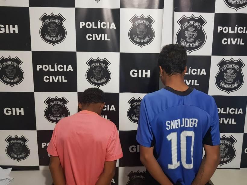 Adolescentes apreendidos suspeitos de participar de homicídio em Valparaíso | Foto: Divulgação/ Polícia Civil
