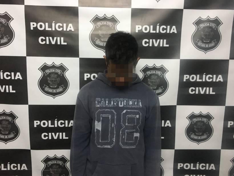 Vitor foi preso em Caldas Novas após ir a delegacia da comarca como testemunha em inquérito policial   Foto: Divulgação/PC