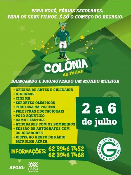 Colônia de Férias do Goiás tem programação recheada   Foto: Divulgação