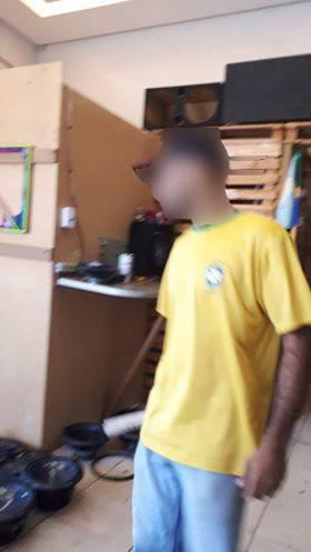 Leitora do Folha Z envia imagem de suspeito em loja próxima ao albergue em que ele mora | Foto: Leitora/ Facebook