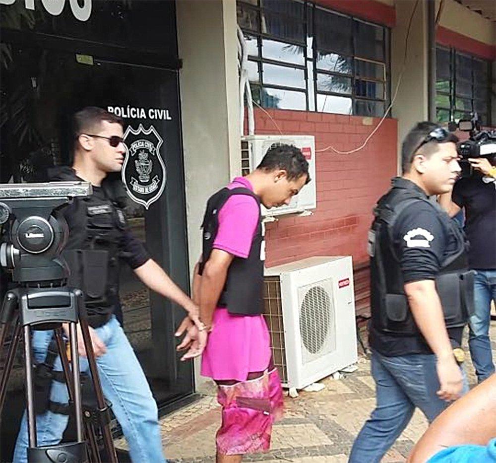 Após crime que chocou o Jardim América, Jhenyweltton Teixeira será encarcerado na Penitenciária Odenir Guimarães | Foto: Reprodução