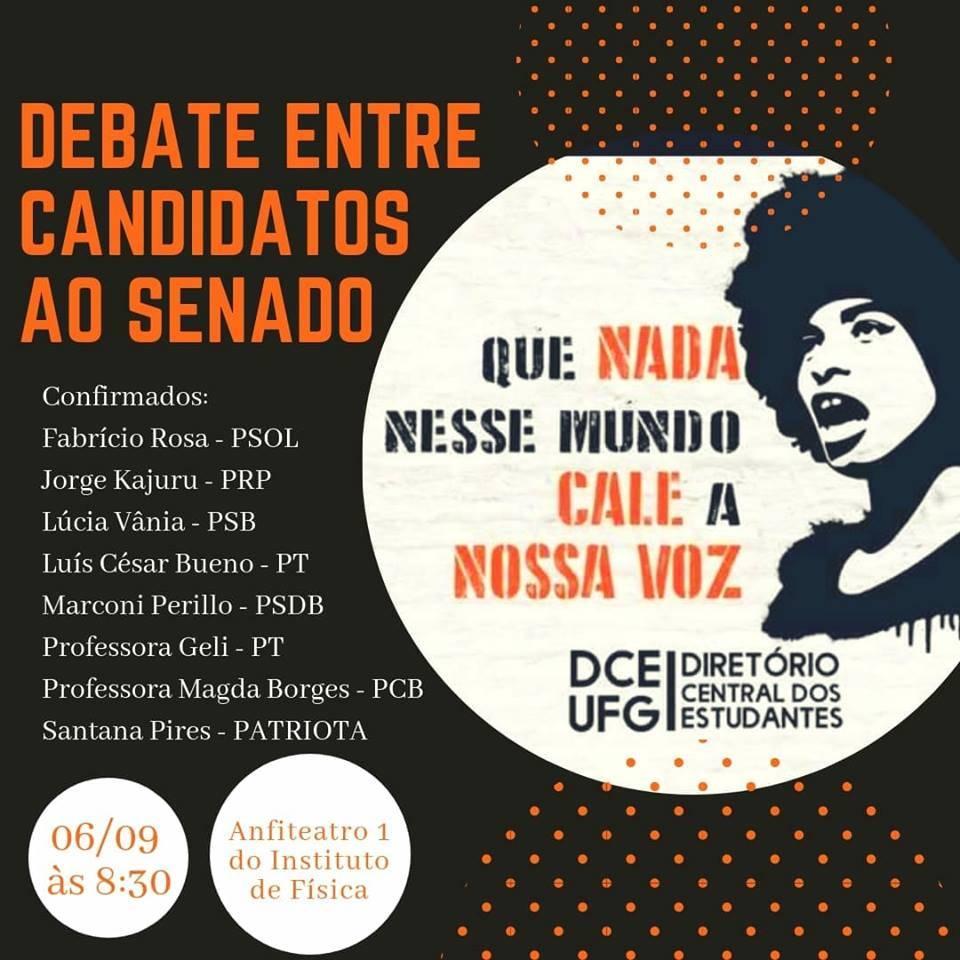 UFG sediará primeiro debate de candidatos ao Senado por Goiás | Foto: Divulgação