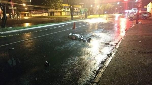 Hugo, de 55 anos, morreu atropelado por uma moto na Avenida T-9, em Goiânia | Foto: divulgação