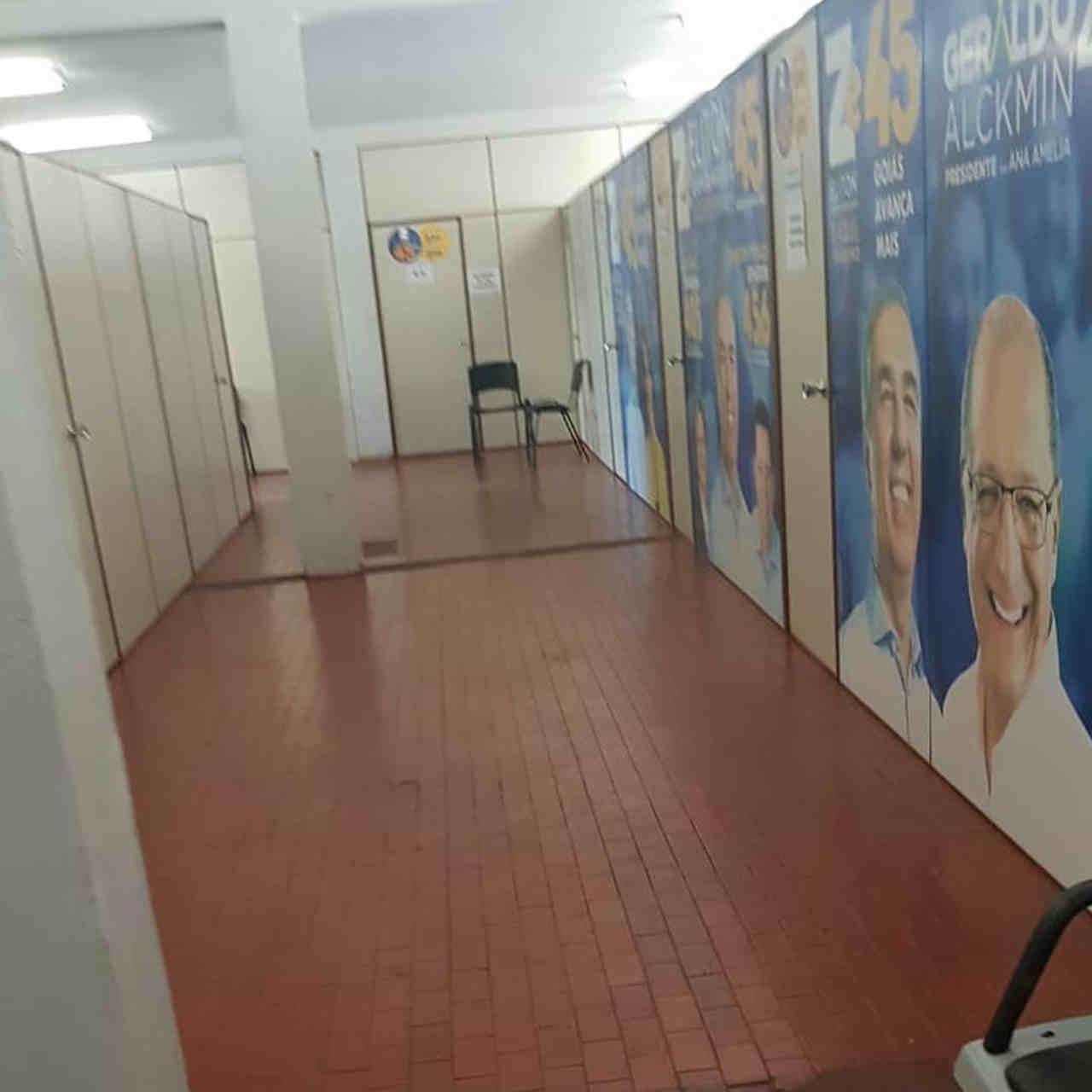 Comitê de campanha do governador José Eliton estava vazio na manhã desta sexta, 5 | Foto: Leitor / Folha Z
