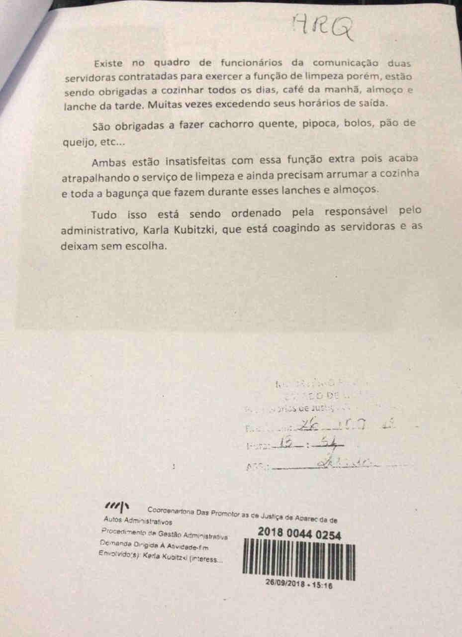 Denúncia de desvio de função na Prefeitura de Aparecida chega ao MP   Foto: Reprodução
