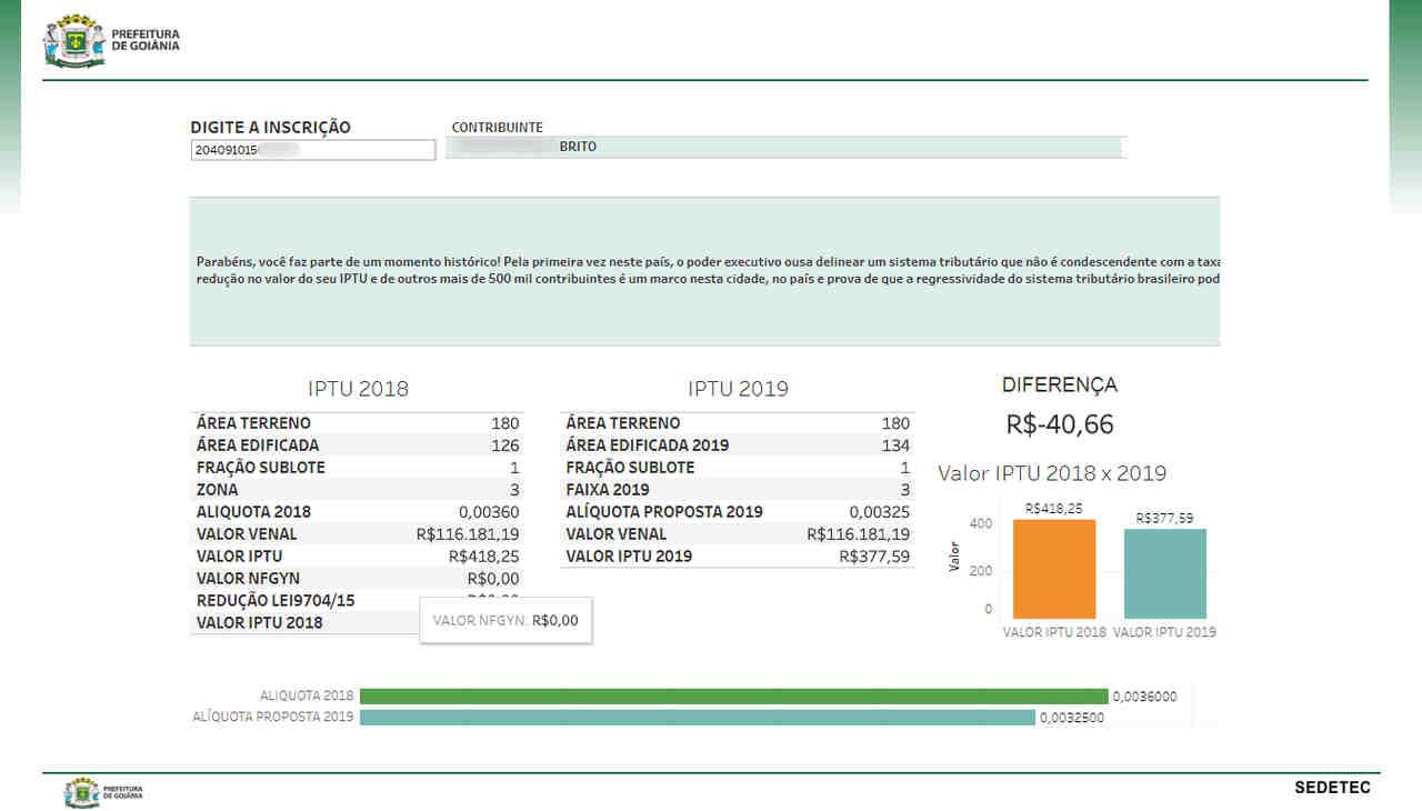 Proprietários podem ter descontos em 2019 no IPTU em Goiânia | Foto: Reprodução