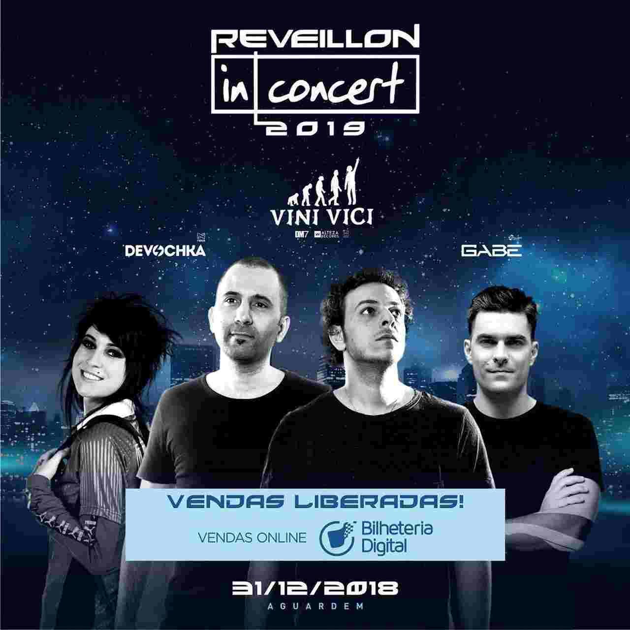 Réveillon 2019 em Goiânia: Réveillon In Concert 2019 terá muita música eletrônica | Foto: Divulgação