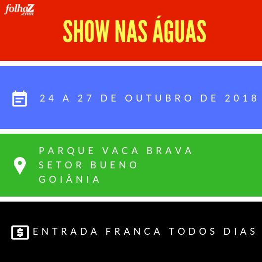 Show nas águas acontece do dia 24 a 27 de Outubro | Foto: montagem Folha Z