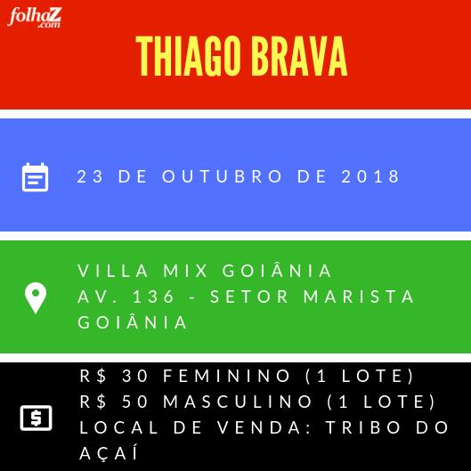 Serviço do evento de Thiago Brava na Villa Mix   Foto: montagem Folha Z