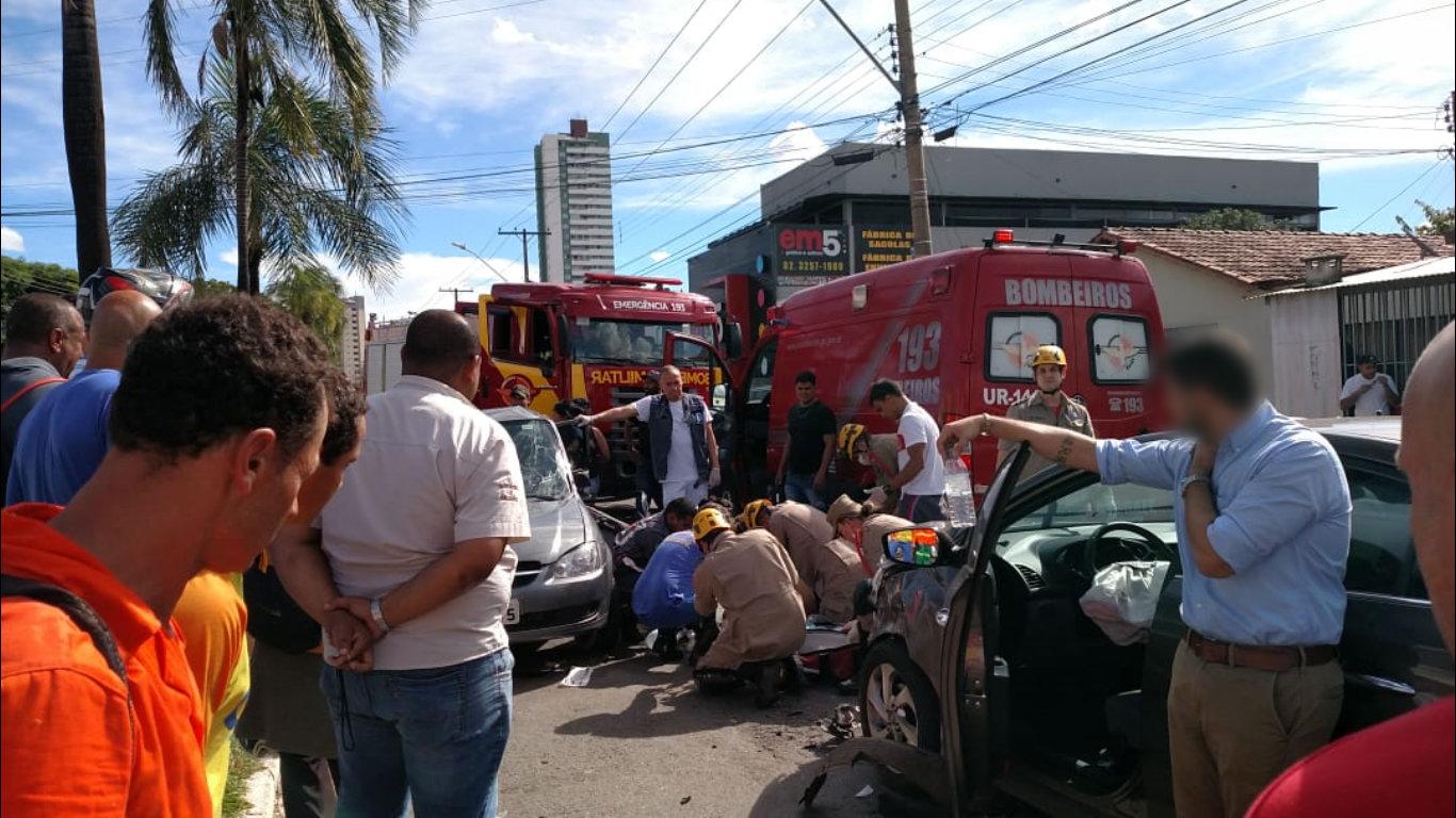 Acidente grave no Jardim América deixou uma vítima fatal nesta sexta, 26   Foto: Leitor / Folha Z