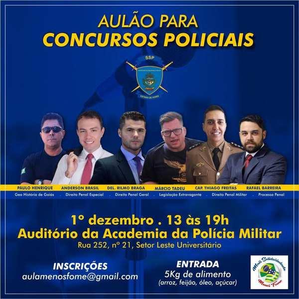 Curso para carreiras policiais é ofertado gratuitamente em Goiânia   Foto: Divulgação