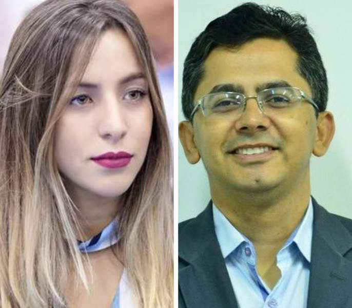Ana Clara Dias e Ozeias Laurentino Júnior   Foto: Montagem