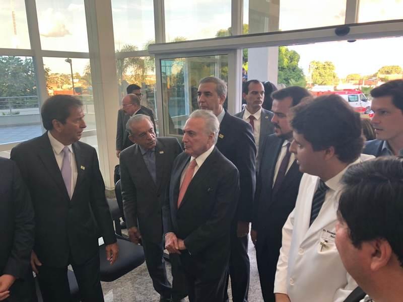 Presidente Michel Temer (MDB) visitou as instalações do HMAP | Foto: Assessoria