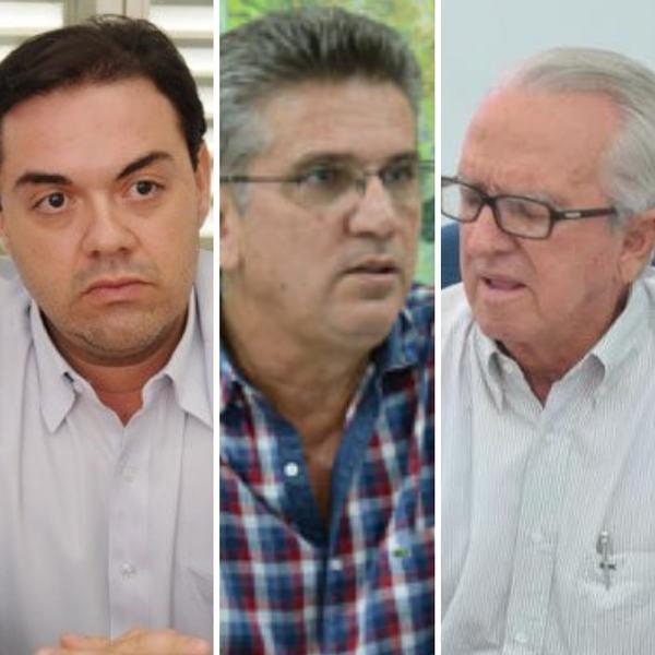Secretários ligados a Maguito: Afonso Boaventura (Governo), Jório Rios (Planejamento e Regulação Urbana) e Mário Vilela (Infraestrutura) | Foto: Montagem