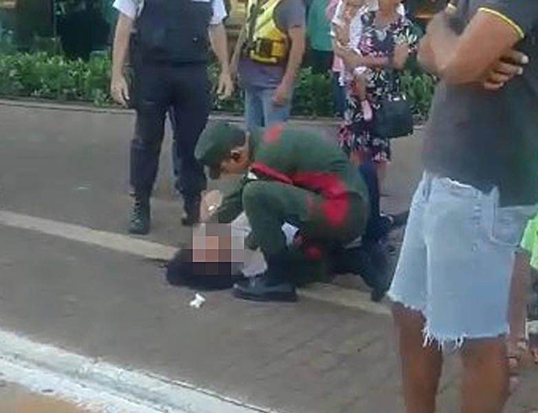 Mulher simula ter sido agredida por motorista no Goiânia Shopping, conclui PM   Foto: Leitor / Whatsapp