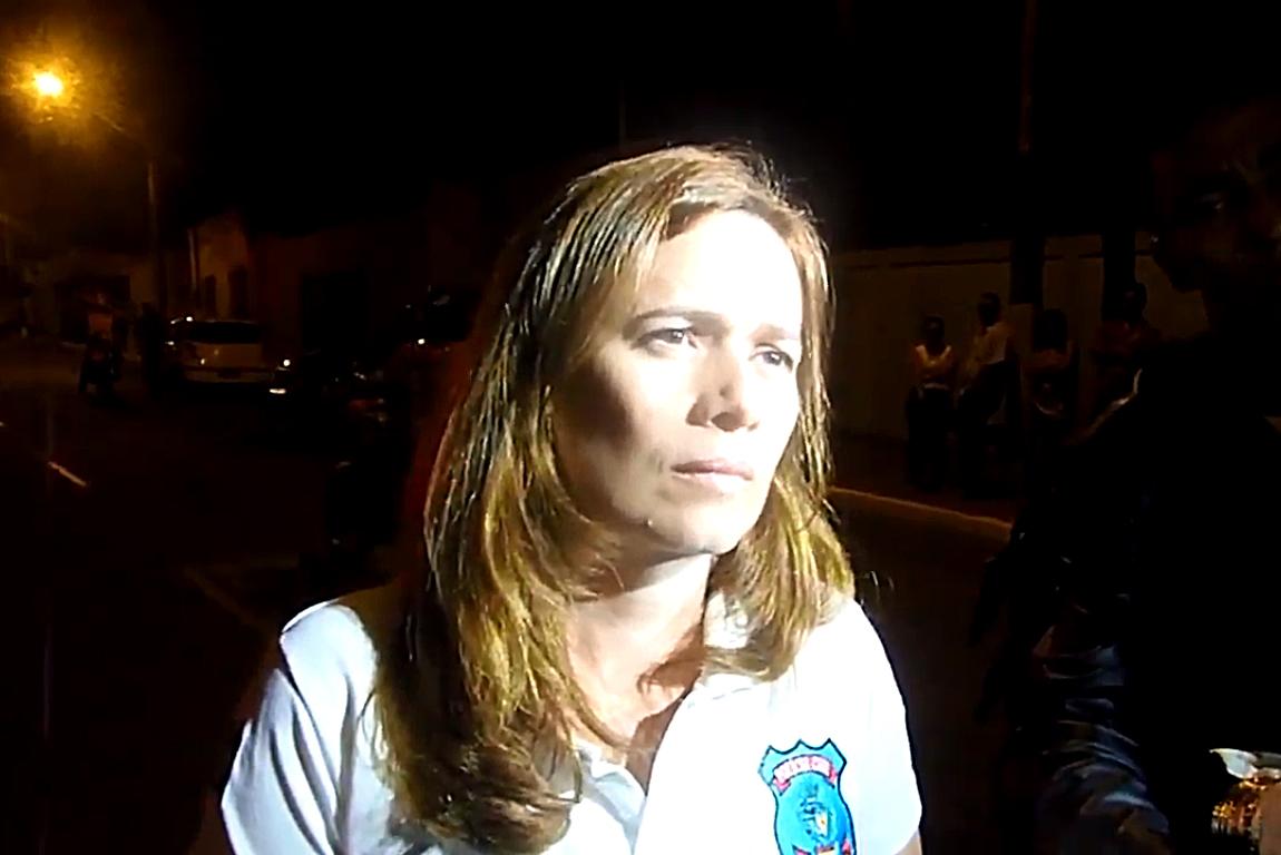 Delegada Edilaine Moreira, da Delegacia de Proteção à Criança e ao Adolescente (DPCA) de Aparecida de Goiânia | Foto: Reprodução