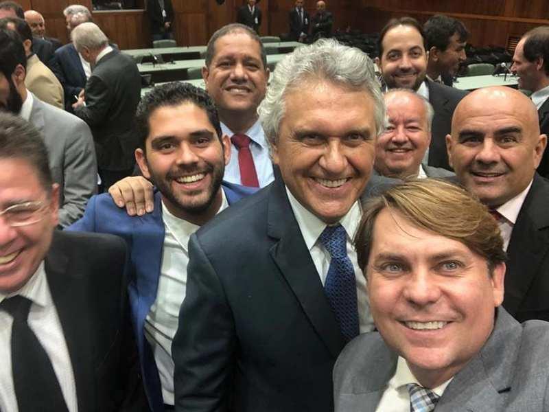 Líder do governador Ronaldo Caiado (DEM) na Assembleia Legislativa, deputado Bruno Peixoto (MDB) | Foto: Reprodução