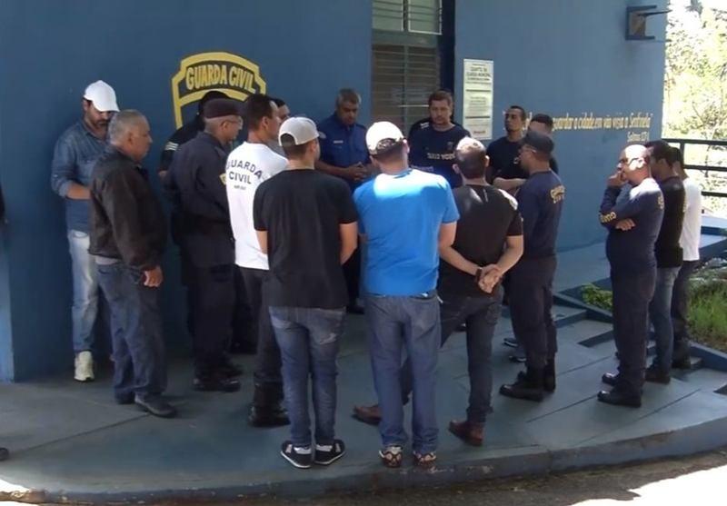 Greve de guardas municipais de Aparecida foi deflagrada no dia 23 de fevereiro | Foto: Reprodução / TV Goiânia