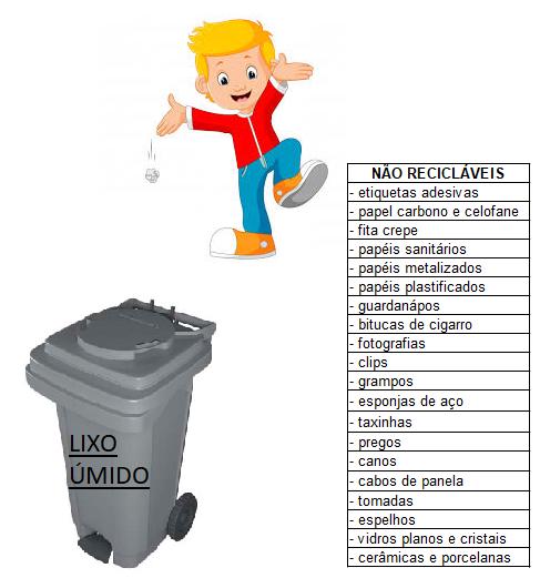 separação lixo úmido
