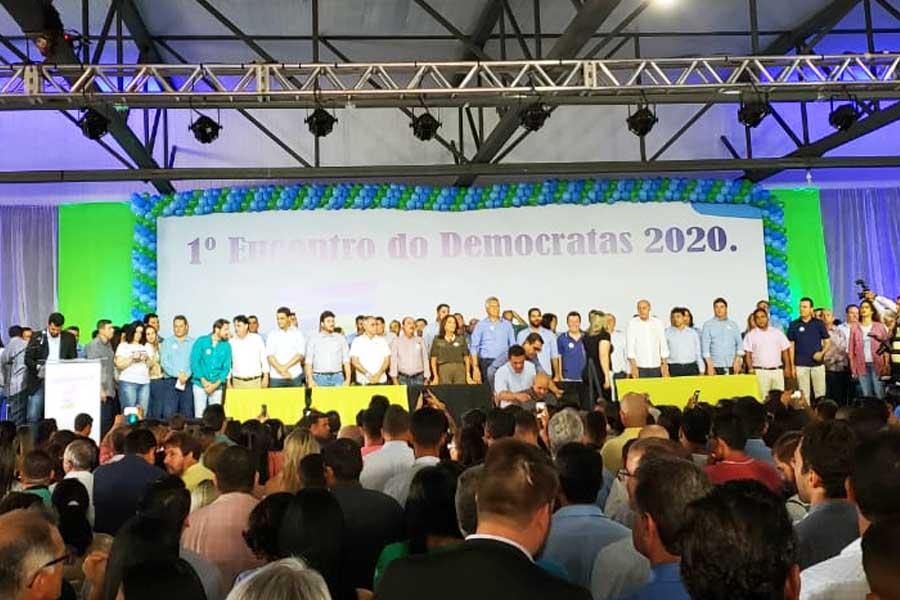 1º encontro do DEM em 2020, realizado neste sábado (7) em Goiânia