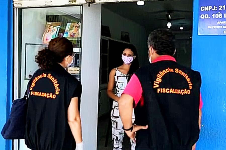 Fizcalização em Aparecida é composta por membros das secretarias da Fazenda, Mobilidade e Defesa Social, Regulação Urbana (Postura e Edificações), Procon, Guarda Civil Municipal, Grupo de Gestão Integrada do Município (GGIM) e Vigilância Sanitária | Foto: Divulgação/Prefeitura