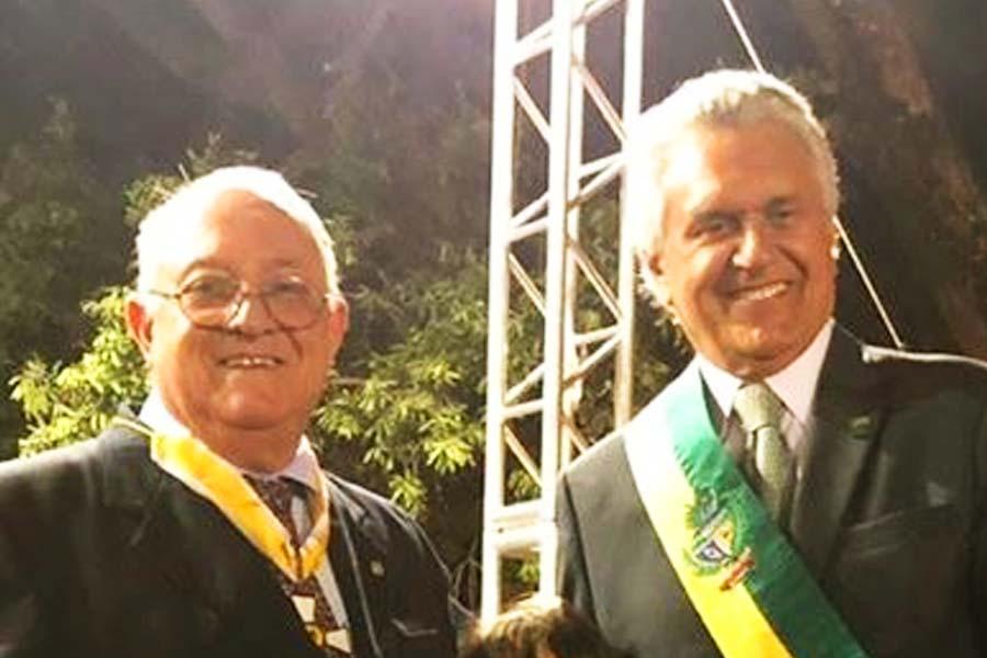 Hugo Goldfeld e Ronaldo Caiado   Foto: Divulgação