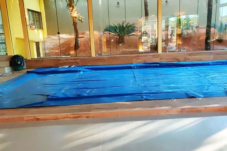 Endereço ligado ao padre Robson tinha piscina aquecida   Foto: Reprodução