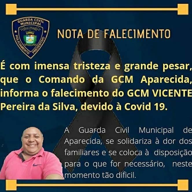 GCM Vicente Pereira da Silva tinha 59 anos   Foto: Divulgação