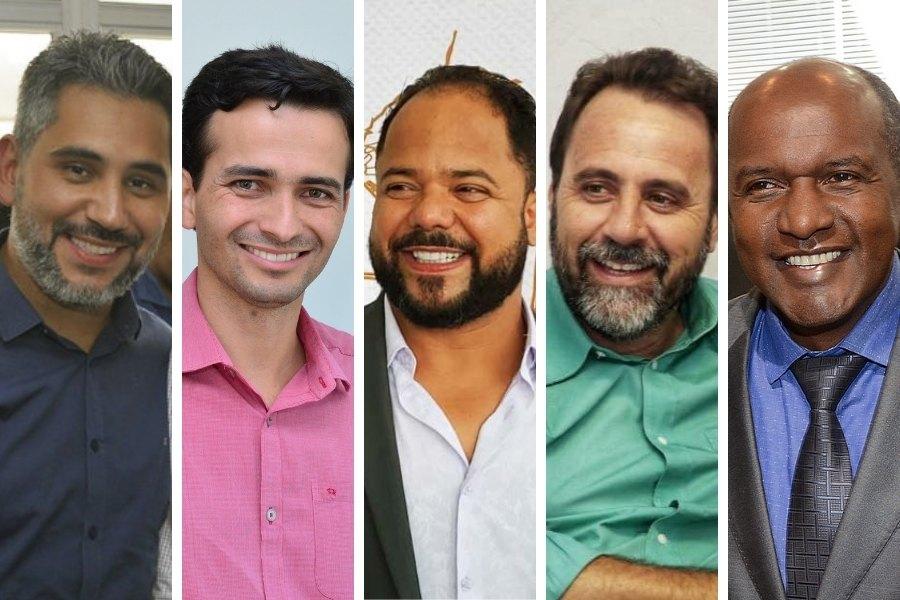 Jhonathan Medeiros (Ciência, Tecnologia e Inovação), Max Menezes (Desenvolvimento Urbano), Vanilson Bueno (Ação Integrada), Veter Martins (Planejamento e Regulação Urbana) e Marlúcio Pereira (Desenvolvimento Econômico) | Foto: Montagem / FZ