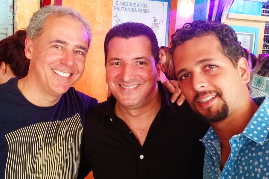Saulo Clemente, Luís Fernando Avelar e Guilherme Coelho em foto tirada em 2014 | Foto: Arquivo Pessoal