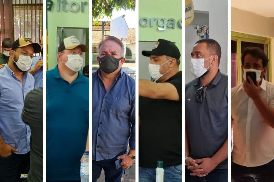 Vanilson Bueno, Tatá Teixeira, Vilmar Mariano, André Fortaleza, Rogério Almeida e Carlos Júnior   Foto: Folha Z