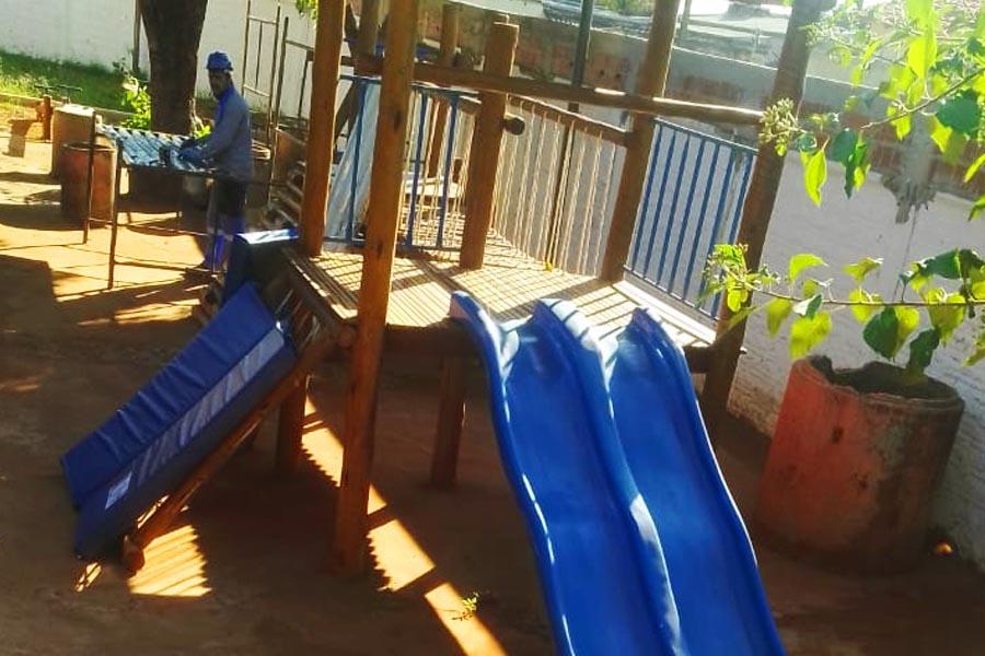 66 parquinhos escolares foram beneficiados em Aparecida   Foto: Divulgação / Secom