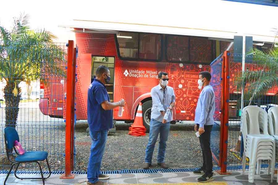 Unidade móvel para doação de sangue na Unifan | Foto: Divulgação