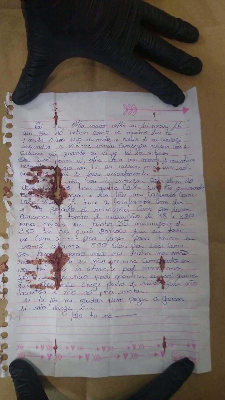 'Não vou me entregar', carta encontrada com Lázaro dá detalhes sobre últimos dias   Foto: Divulgação / PCGO