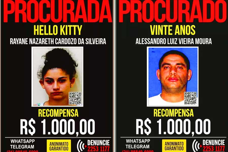 """Traficantes """"Hello Kitty"""" e """"Vinte Anos"""" são mortos em operação da PM   Foto: Reprodução"""